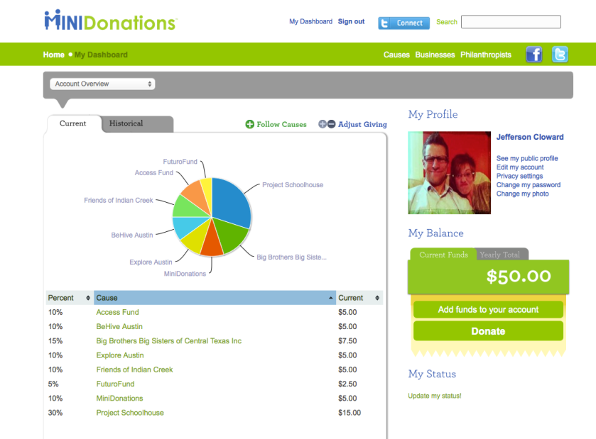 Minidonations account