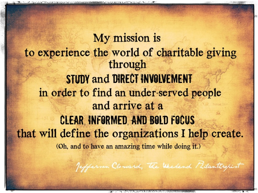 TWPhilanthropist mission statement