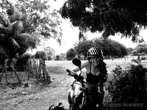 Riding around Ometepe