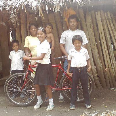 Mariselda with her bike, Ometepe