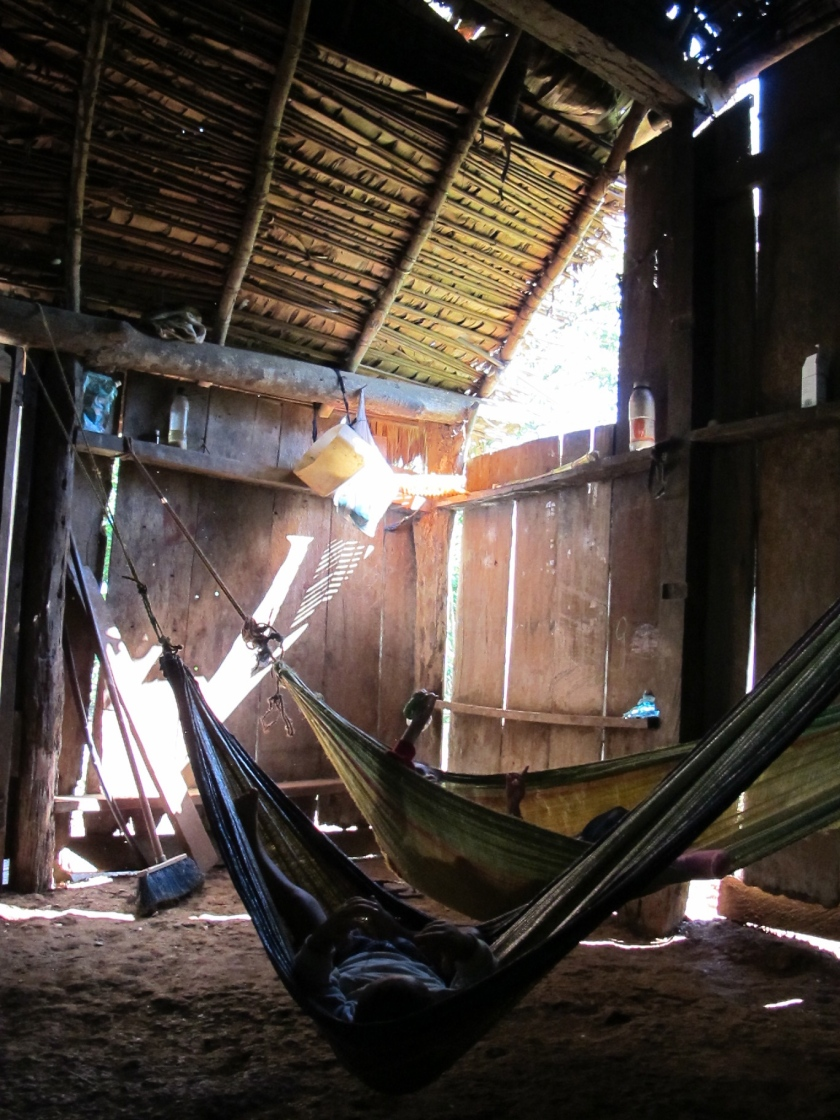 Sleepin in hammocks
