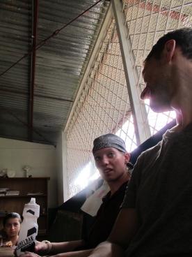 Watching TV in Nicaragua
